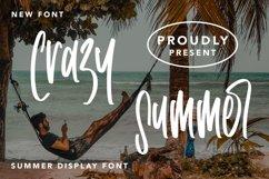 Crazy Summer - Summer Display Font Product Image 1