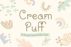 Cream Puff | Fun Sweet Lettering | Multilingual & Ligatures Product Image 1