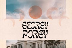 Morgy Psychedelic display font Product Image 2