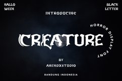 Creature - Horror Display Font Product Image 1