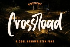 Web Font Crossroad - Cool Handwritten Font Product Image 1