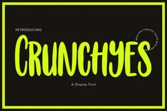 Crunchyes Display Font Product Image 1