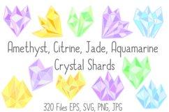 Pastel Quartz Healing Crystal Shapes SVG, EPS, PNG JPG Files Product Image 1