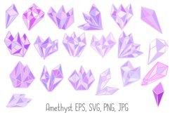 Pastel Quartz Healing Crystal Shapes SVG, EPS, PNG JPG Files Product Image 5