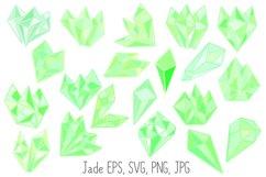 Pastel Quartz Healing Crystal Shapes SVG, EPS, PNG JPG Files Product Image 4