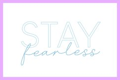 Single line Crystal Darling, a sketch sans and script font Product Image 3
