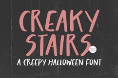 CREAKY STAIRS Scary Halloween Font Product Image 1