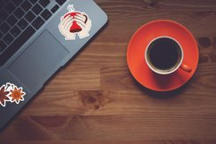 Coffee printable stickers bundle PNG, EPS, JPG. Product Image 5