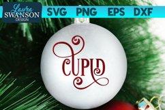 Reindeer Cupid SVG Cut File | Christmas Ornament SVG Product Image 1