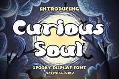 Curious Soul - Spooky Display Font Product Image 1