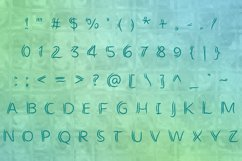 alphabet with crooked letters and numbers
