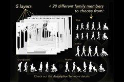 Customizable 3D family shadow box cut files