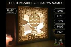 Customizable baby elephant light box
