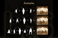 Customizable grandad shadowbox examples