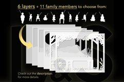 Customizable grandad shadow box layers