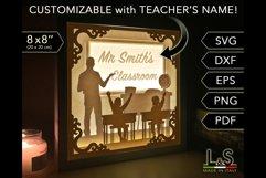 Customizable male teacher light box