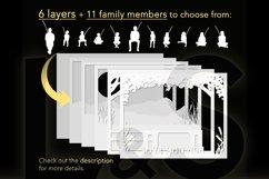 Customizable shadow box layers