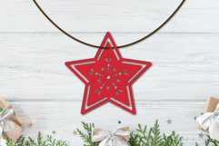 Christmas Ornament SVG Cut File - Star SVG Product Image 2