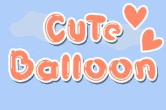 Cute Balloon| A Display Typeface Product Image 1