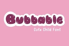 Cute Child Handwritten Font - Bubbable Product Image 1