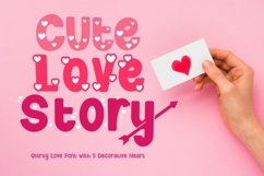 Cute Love Story - Quirky Love Font Product Image 1