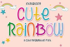 Cute Rainbow Font Product Image 1
