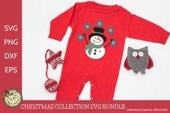 Snowman and snowflakes, cute Christmas cut file