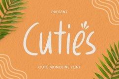 Web Font Cuties Font Product Image 1