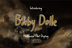 Baby Dolle - Halloween Font Display Product Image 1