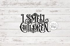 I Smell Children Gothic SVG | Halloween Witch Word Art Product Image 3