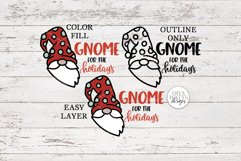 Gnome For The Holidays SVG   Christmas Round Sign Design Product Image 2