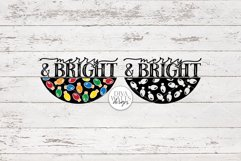 Merry And Bright   Christmas Lights Door Hanger Design Product Image 3