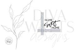 Home Sweet Home SVG | Farmhouse Plaid Design Product Image 2