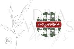 Merry Christmas Buffalo Plaid Round SVG | Winter Design Product Image 3