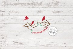I Am Always With You SVG | Christmas / Memorial Red Cardinal Product Image 5