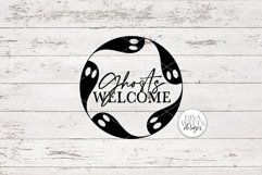 Ghosts Welcome SVG | Halloween Round Sign Design Product Image 3