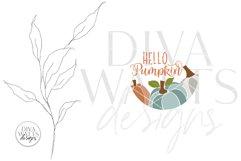 Hello Pumpkin SVG | Fall / Autumn Design Product Image 3