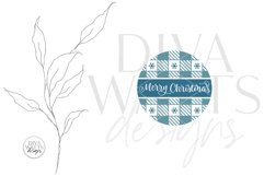 Merry Christmas Plaid Pattern SVG | Round Winter Welcome Product Image 3