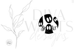 Spooky SVG | Halloween Ghosts Round Design Product Image 3