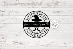 Witch's Brew Coffee Shoppe | Halloween Kitchen Round Sign De Product Image 2