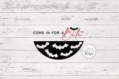 Come In For A Bite SVG   Halloween Bat / Vampire Round Sign Product Image 2