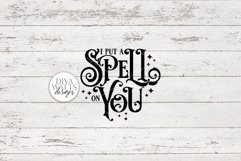 I Put A Spell On You SVG | Halloween Witch Word Art Design Product Image 5