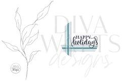 Happy Holidays Plaid SVG | Farmhouse Christmas Round Design Product Image 2