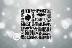 Halloween Subway Art SVG | DXF and More Product Image 2
