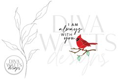I am always with you SVG | Red Cardinal Memorial Design Product Image 3