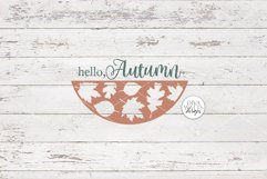 Hello Autumn SVG | Fall Round Sign Design Product Image 3