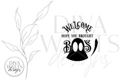 Welcome Hope You Brought Boo's SVG   Halloween Ghost Round D Product Image 2