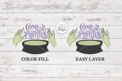 Come In My Pretties SVG   Halloween Witch's Cauldron Design Product Image 2