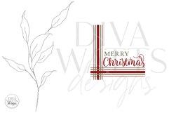 Merry Christmas Plaid SVG | Farmhouse Design Product Image 2