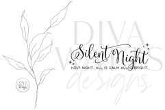 Silent Night Holy Night SVG | Christmas Sign Design Product Image 2